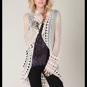 Free People Rounded Up Crochet Cardigan